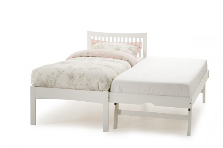 Guest Bed Wood White 750 x 498