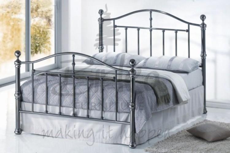 Birlea Victoria 5ft Kingsize Nickel Metal Bed Frame