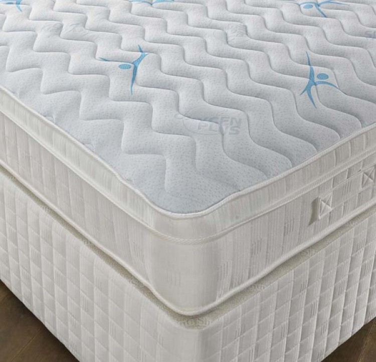 Pocket sprung with memory foam 2ft 6 small single divan for Single divan bed with pocket sprung mattress
