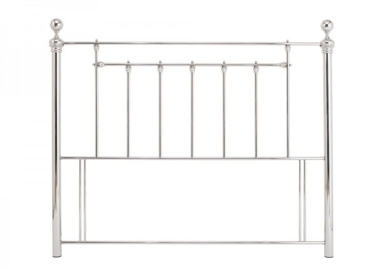 serene benjamin 4ft small double nickel metal headboard by. Black Bedroom Furniture Sets. Home Design Ideas