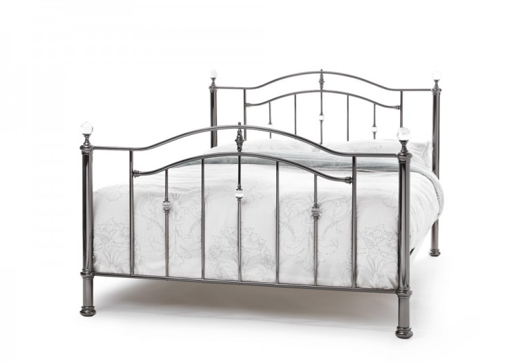 Serene Ashley 5ft King Size Black Nickel Metal Bed Frame
