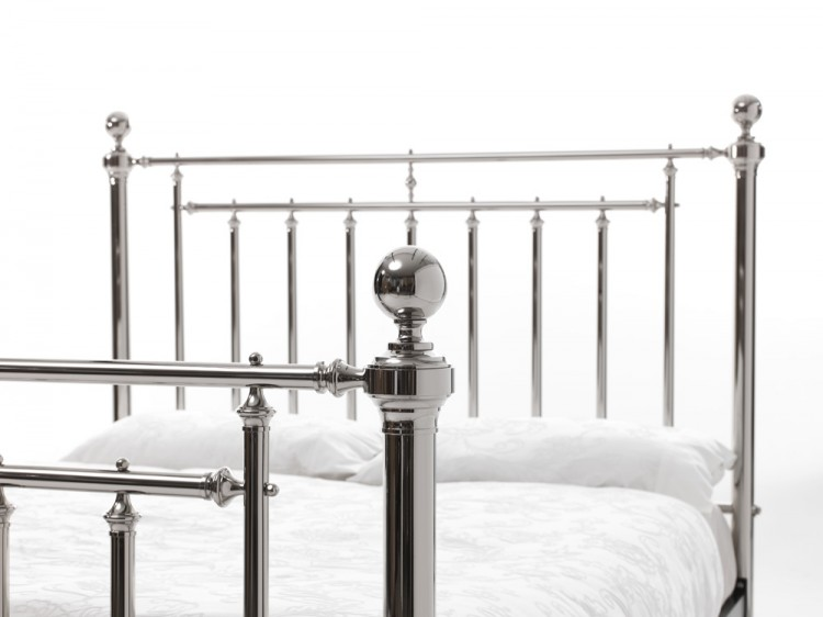 Serene Solomon 5ft King Size Nickel Metal Bed Frame By