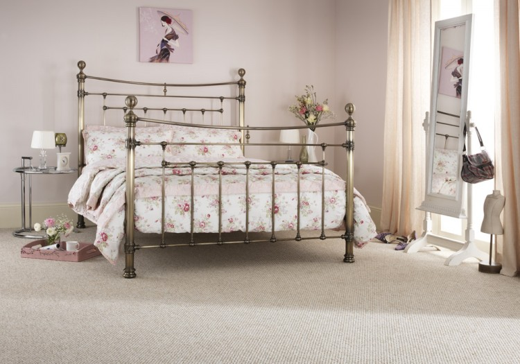 serene edmond 4ft 6 double brass metal bed frame