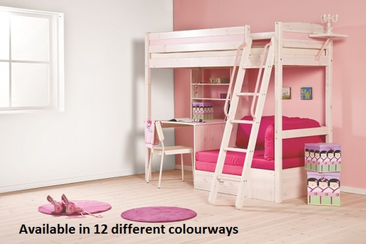 Thuka Trendy 29 Kids High Sleeper Beds Available In 12 Colour Ways