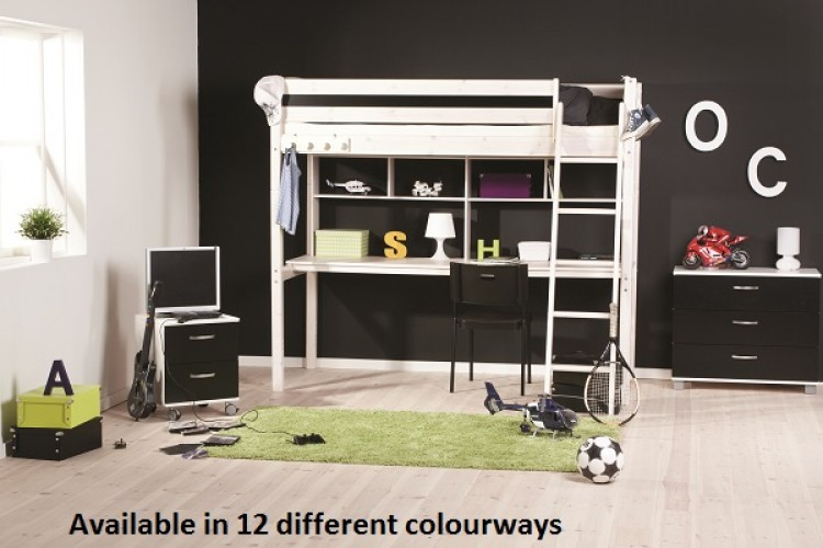 thuka trendy 33 high sleeper bed choice of colours by thuka. Black Bedroom Furniture Sets. Home Design Ideas