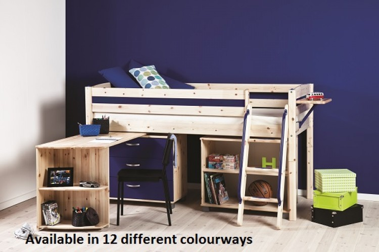 Thuka Trendy 11 Kids Mid Sleeper Beds Available In 12 Colour Ways