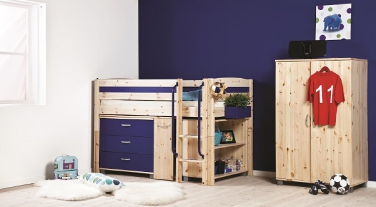 Thuka Trendy 2 Shorty Kids Childrens Mid Sleeper Beds Available In A Short Lenght 12