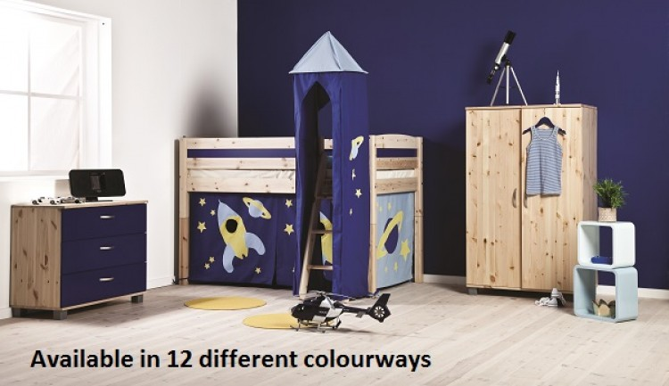 Thuka Trendy 4 Shorty Childrens Mid Sleeper Beds Available In A Short Length And 12 Colour