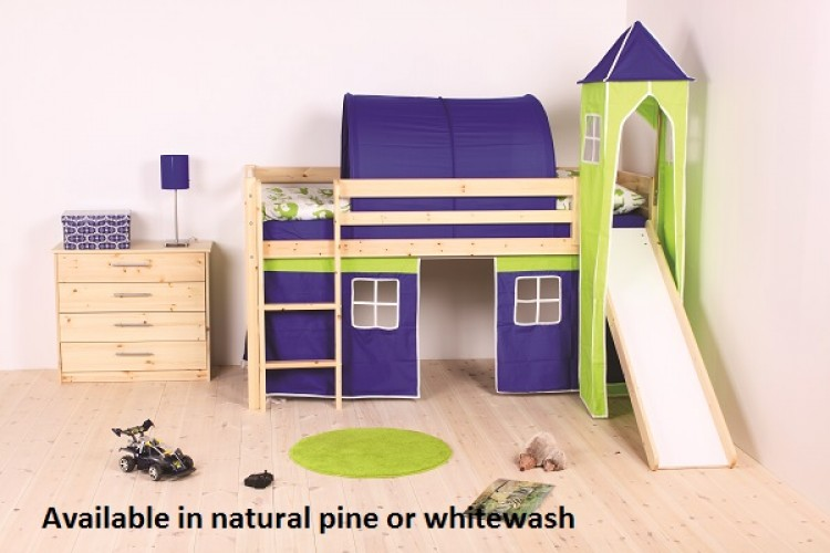 Thuka Hit 14 Childrens Mid Sleeper Bed Frame Available In Natural Or Whitewash