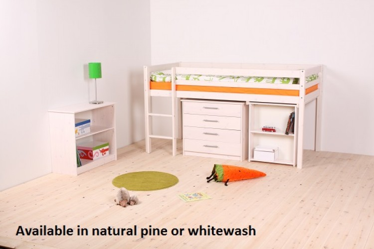 Thuka Hit 25 Childrens Mid Sleeper Bed Frame Available in Natural or on sleepy bed, rake bed, spencer bed, guardian bed, leo bed, sophia bed, summer bed, samantha bed, shotgun bed, stella bed, next bed, thomas bed, babydoll bed,