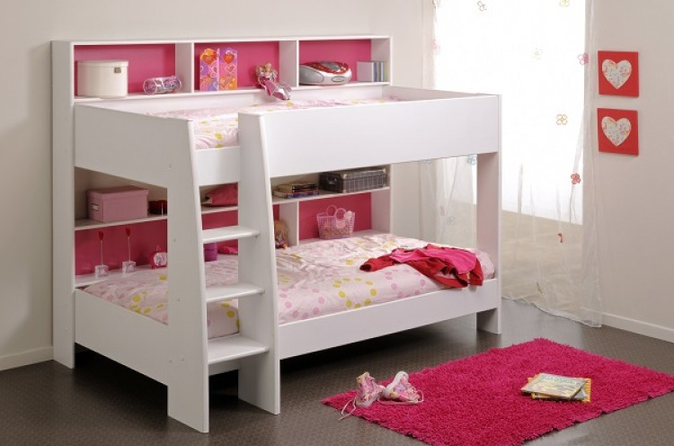 Parisot Thuka Beds Tam Tam 2 White Childrens Bunk Bed ...