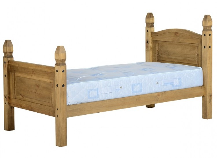 Seconique Corona Mexican Pine 3ft Single Bed Frame by Seconique