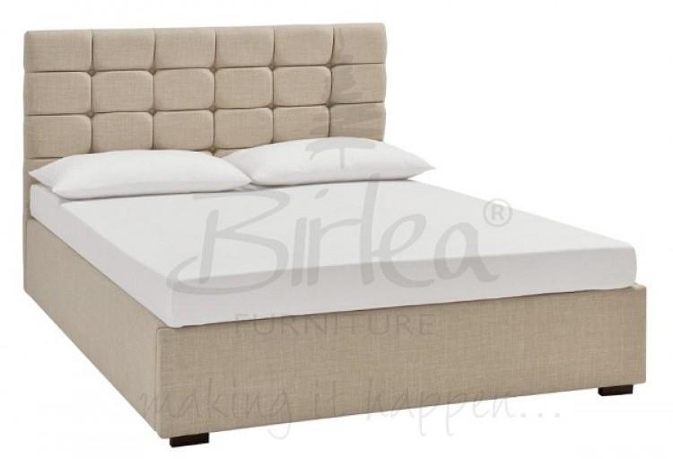c53c723b6a5f48 Birlea Isabella 4ft6 Double Cappuccino Upholstered Fabric Bed Frame Birlea  ...