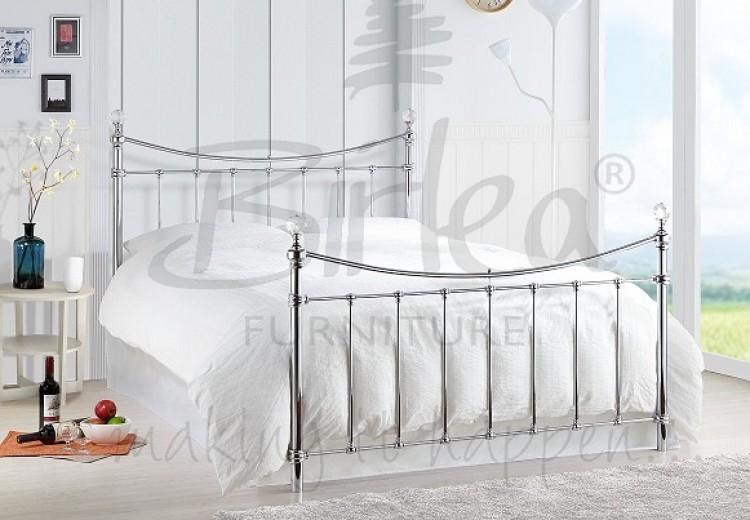 Birlea Alexa 5ft King Size Chrome Metal Bed Frame With Crystals By Birlea