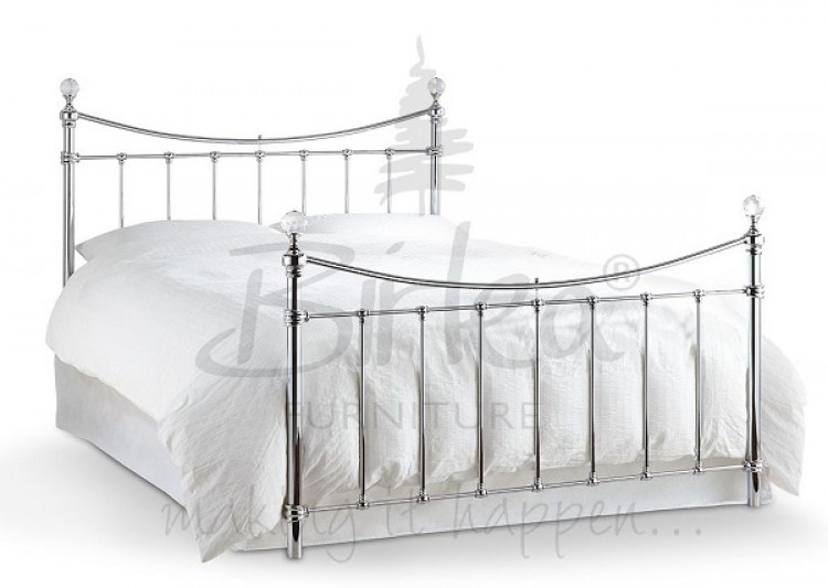 Birlea Alexa 5ft King Size Chrome Metal Bed Frame With