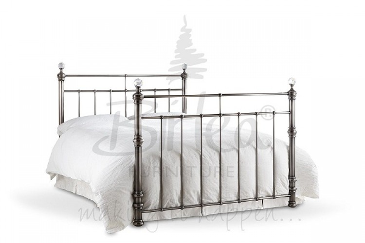 Birlea Georgina 5ft King Size Brushed Nickel Metal Bed
