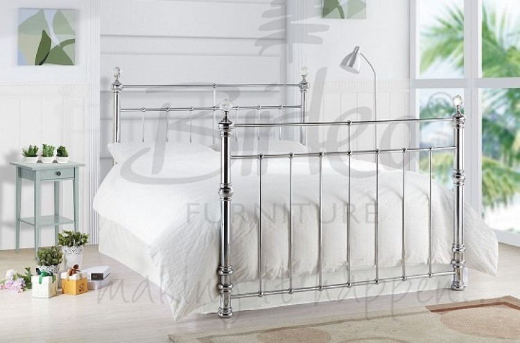 Birlea Georgina 5ft King Size Chrome Metal Bed Frame With