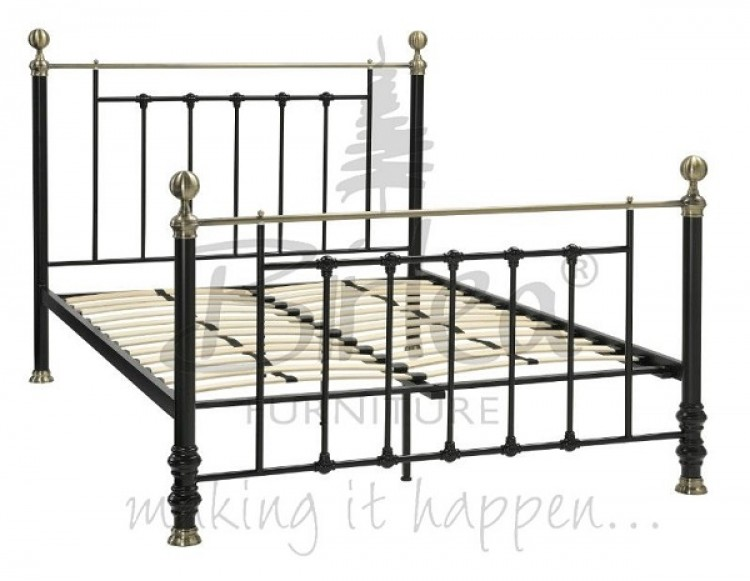 Birlea Charlotte 5ft King Size Black Metal Bed Frame By Birlea
