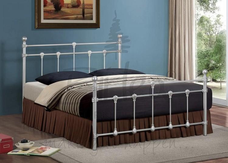 birlea atlas 4ft small double silver metal bed frame - Silver Metal Bed Frame