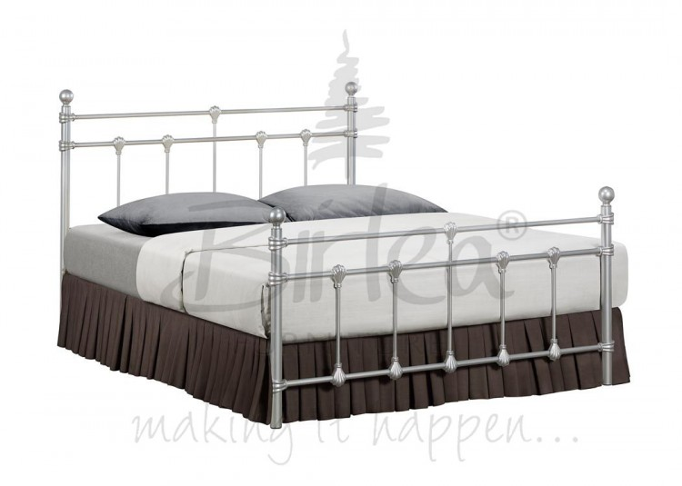 birlea atlas 4ft small double silver metal bed frame birlea - Silver Metal Bed Frame