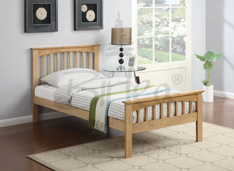 birlea saunton 3ft single solid oak bed frame by birlea. Black Bedroom Furniture Sets. Home Design Ideas
