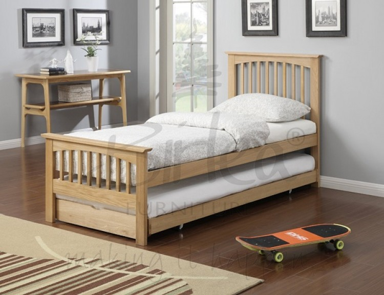 Birlea Saunton 3ft Single Solid Oak Guest Bed Frame By Birlea