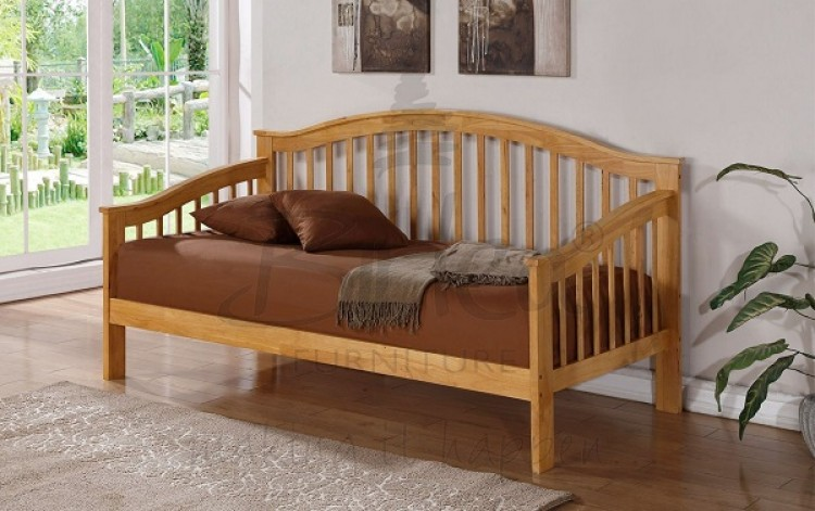 birlea savannah wooden day bed frame with oak finish - Wood Frame Daybed