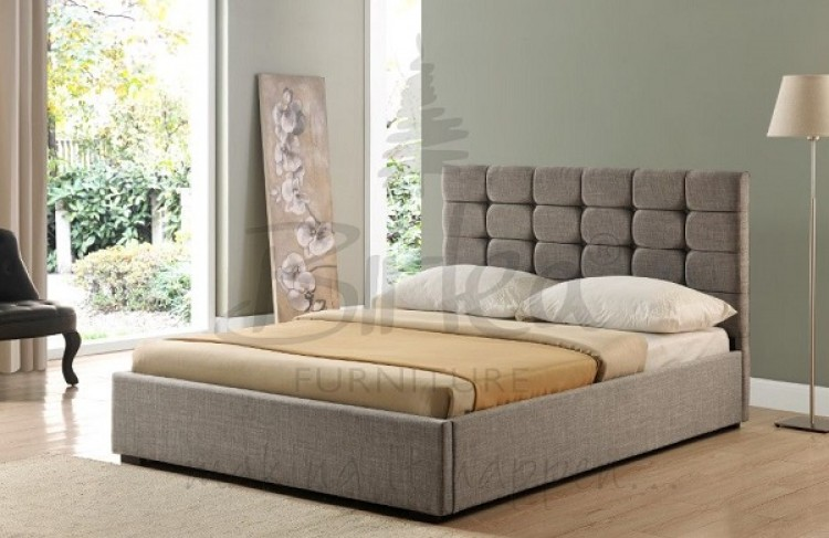 Birlea Isabella 5ft King Size Grey Upholstered Fabric Ottoman Bed