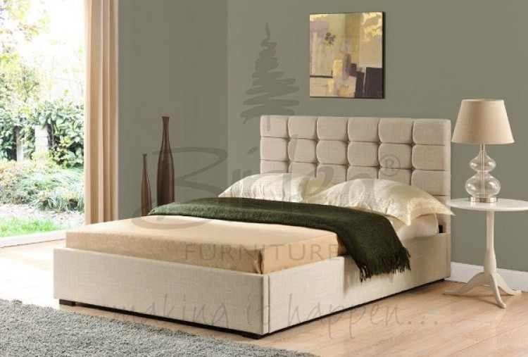 Birlea Isabella 4ft6 Double Cappuccino Upholstered Fabric Ottoman Bed Frame