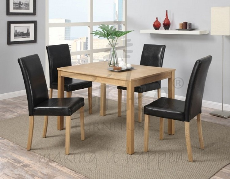 Oak Veneer Dining Table Oak Veneer Dining Table SL Interior