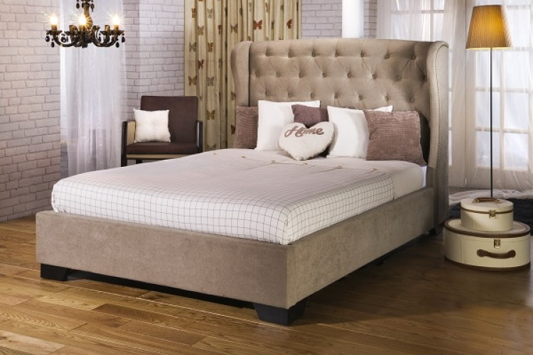 limelight capella 4ft 6 double fabric upholstered bed frame