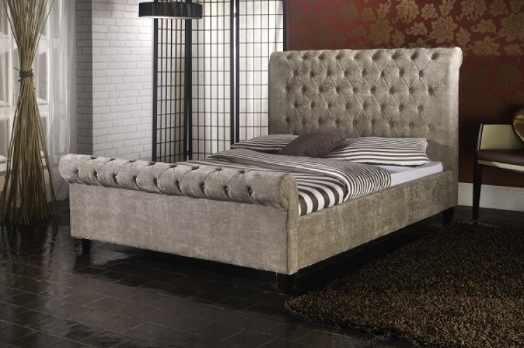 Limelight Orbit 4ft6 Double Mink Velvet Fabric Bed Frame ...