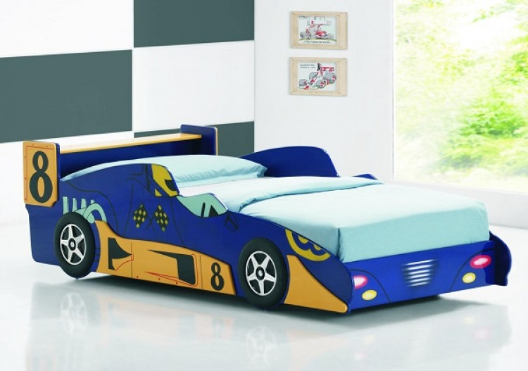 racer twin size bed frame
