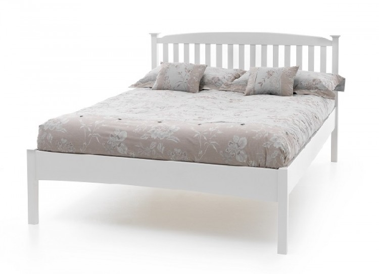 Serene Eleanor 4ft6 Double White Wooden Bed Frame With Low Footend