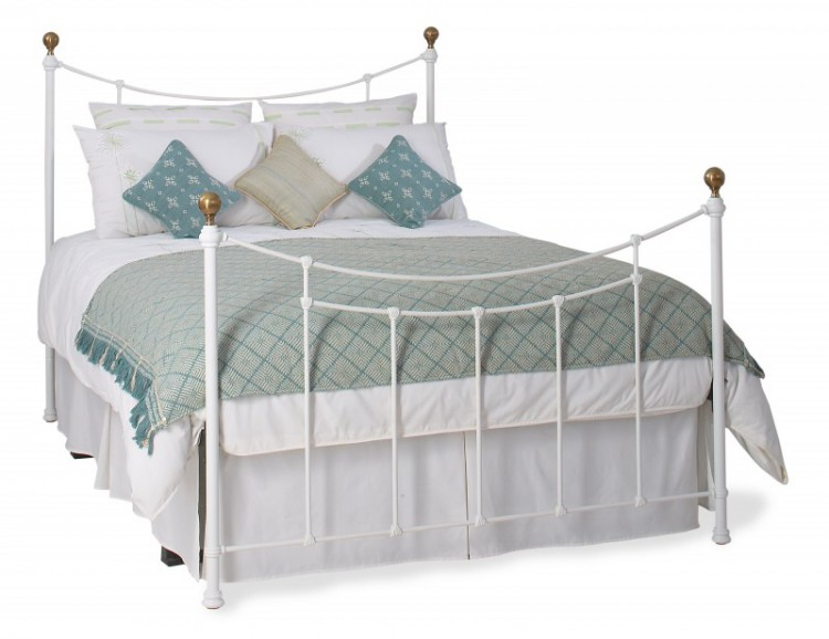 OBC Virginia 4ft 6 Double Satin White Metal Bed Frame by Original ...