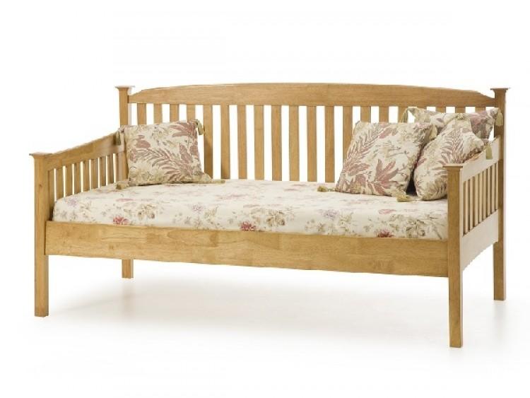 serene eleanor 3ft single oak wooden day bed frame - Wooden Daybed Frame