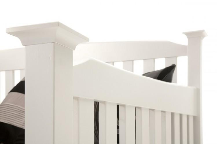 Serene Eleanor 3ft Single White Wooden Day Bed Frame by Serene ...