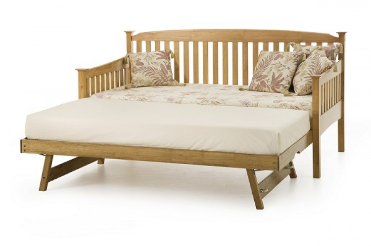Serene Eleanor 3ft Single Oak Wooden Day Guest Bed Frame