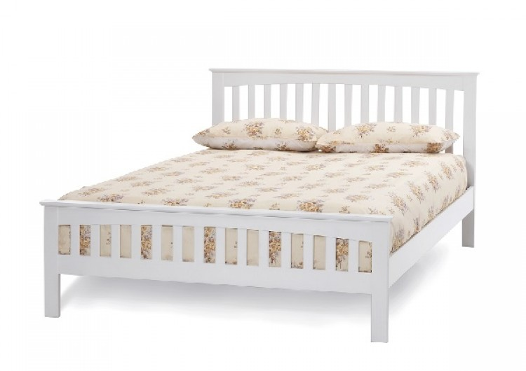 Serene Amelia 4ft Small Double White Wooden Bed Frame by Serene ...