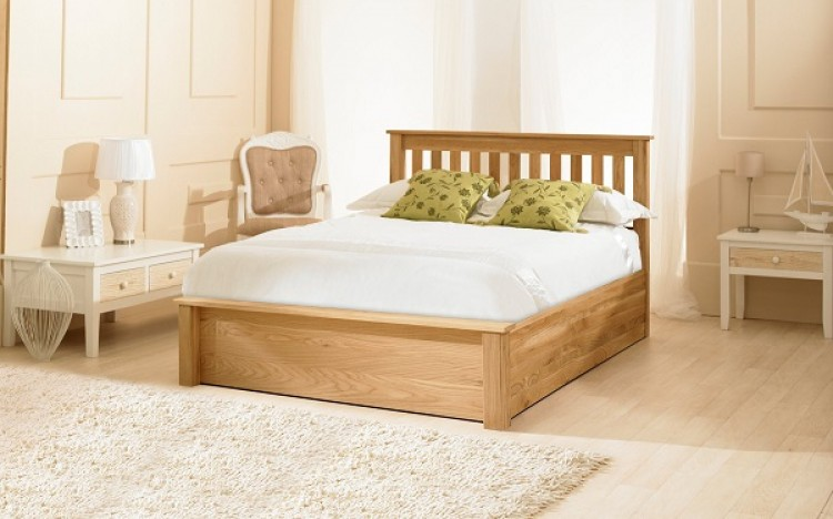 Emporia Monaco 5ft Kingsize Solid Oak Ottoman Bed Frame By