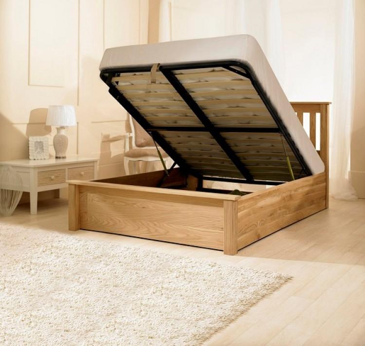 Super Emporia Monaco 6Ft Super Kingsize Solid Oak Ottoman Bed Dailytribune Chair Design For Home Dailytribuneorg