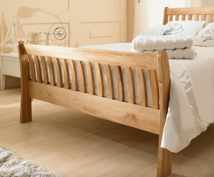 emporia windsor 4ft6 double solid oak bed frame emporia - Oak Bed Frame