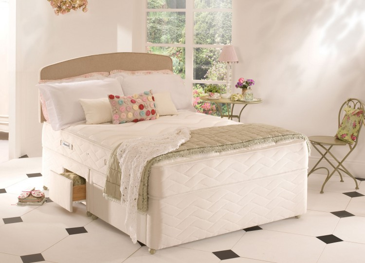 Sealy Memory Support 3ft Single Posturepedic With Zoned Foam Divan Bed By Sealy