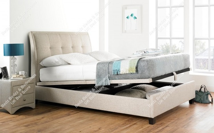 Kaydian Accent 5ft Kingsize Oatmeal Ottoman Storage Bed & Kaydian Accent 5ft Kingsize Oatmeal Ottoman Storage Bed by Kaydian