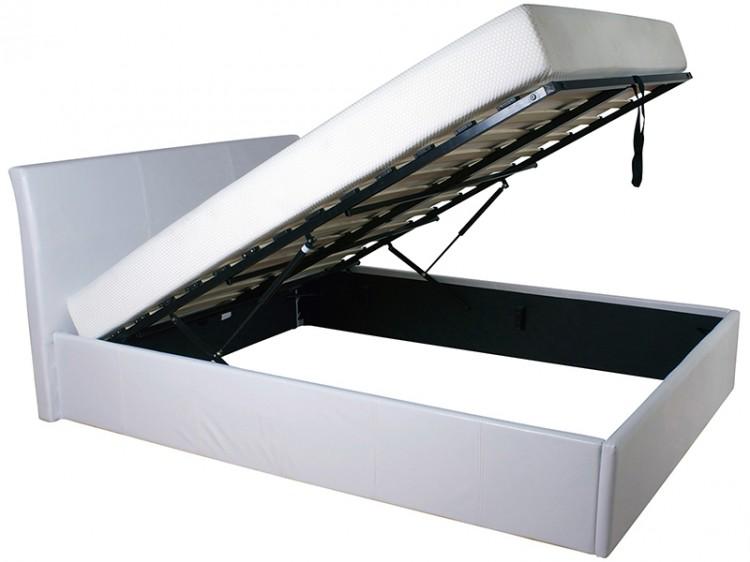 gfw denver 3ft single white faux leather ottoman lift bed frame - Bed Frames Denver