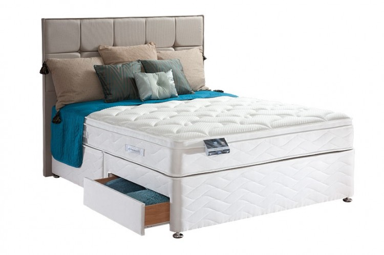 Sealy pearl geltex 3ft single divan bed by sealy for 3 foot divan bed