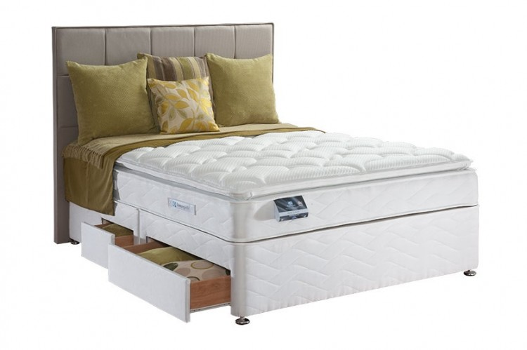 Sealy Pearl Luxury 4ft Small Double Divan Bed By Sealy