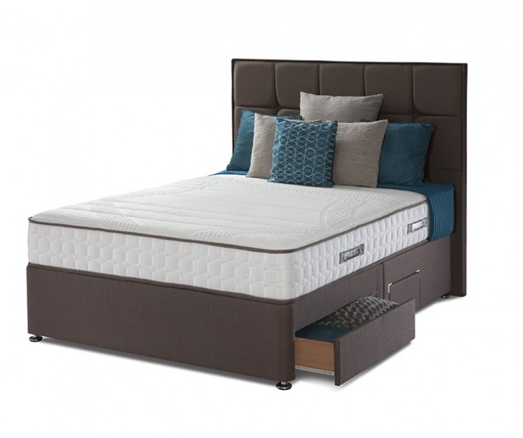 Sealy pearl contour 3ft single divan bed by sealy for 3 foot divan bed