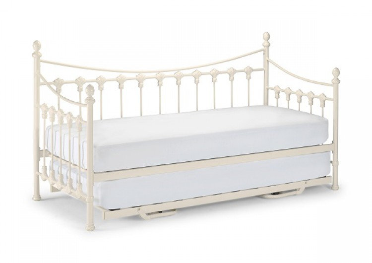 julian bowen 3ft single versailles day bed with trundle stone white metal bed frame