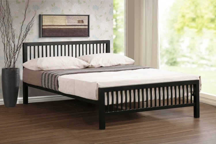 Time Living Meridian 3ft Single Black Metal Bed Frame